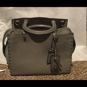 Coach 1941 Rouge 25 Heather Gray Rivets